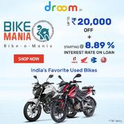 Droom Bike-O-Mania Sale -  Get best offers On Top Selling Bike Models