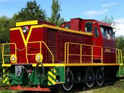 Diesel locomotive TGM 23D shunting. Modernized
