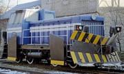 TGM 40C diesel locomotive snow plow.